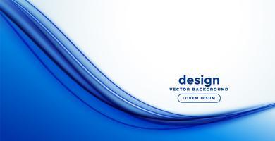 blauw glad abstract ontwerp van de golfbanner