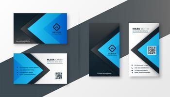 snyggt blått modernt visitkortdesign