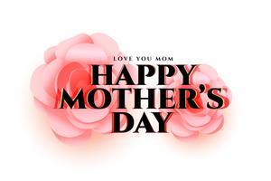 mors dag blomma hälsningskort design