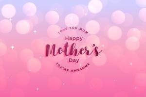 hälsningskortdesign av lycklig mors dag