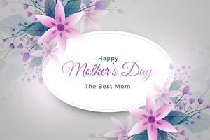 elegant mors dag blomma hälsning