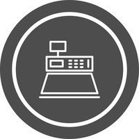 Contant geld teller pictogram ontwerp