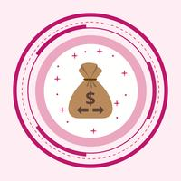Skicka pengar ikondesign