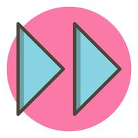 Forward Arrows Icon Design