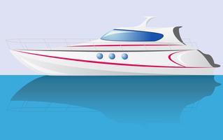 yacht de vitesse blanc
