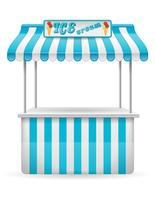 street food stall ice cream vector illustration