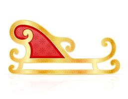 christmas sledges santa claus vector illustration