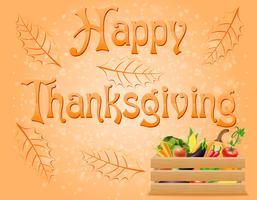 illustration vectorielle de texte joyeux thanksgiving