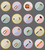 repair and building tools flat icons vector illustration