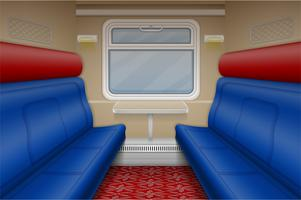 train compartment inside view vector