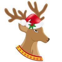 Weihnachtsrotwild-Vektorillustration