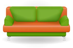 sofa furniture vector illustration