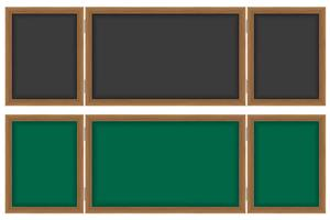 wooden school board for writing chalk vector illustration