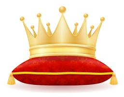 Ilustración de vector de rey corona dorada real
