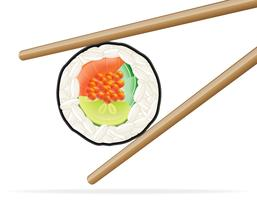 sushi and chopsticks vector illustration