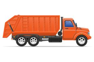 cargo truck remove garbage vector illustration