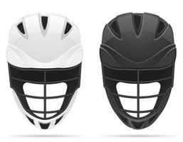 lacrosse helmets vector illustration
