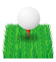 illustration vectorielle de balle de golf