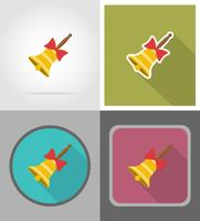 school bell flat icons vector illustration