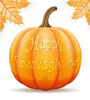 pumpkin thanksgiving vector illustration