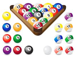balls for billiards vector