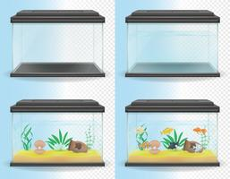 transparent aquarium vektor illustration