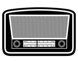 radio oud retro vintage pictogram stock vector illustratie zwart omtrek silhouet