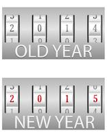 combination lock old and the new year vector illustration