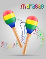 maracas instruments de musique stock illustration vectorielle