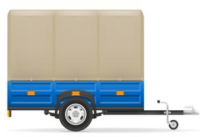 car trailer for the transportation of goods vector illustration