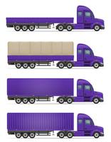 truck semi trailer for transportation of goods vector illustration