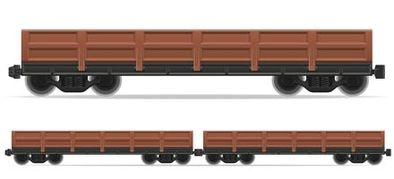 railway carriage train vector illustration