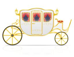 royal carriage for transportation of people vector illustration