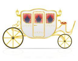 carruagem real para transporte de ilustração vetorial de pessoas vetor