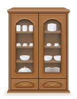 cupboard furniture made of wood vector illustration