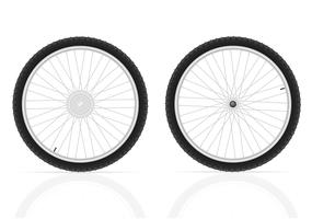 bicycle wheels vector illustration