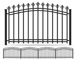 iron forged fence vector illustration
