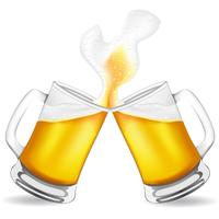 beer in glass vector illustration