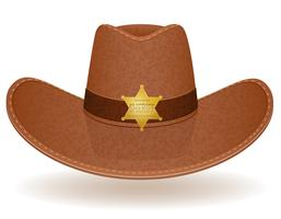 cowboyhatt sheriff vektor illustration