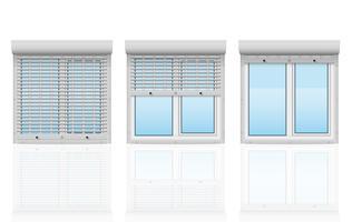finestra di plastica dietro metallo perforato rotoli di illustrazione vettoriale