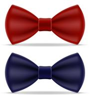 red and blue bow tie for men a suit vector illustration