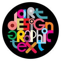 Vector de diseño gráfico de texto en un negro
