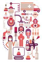 Laboratorio medico - illustrazione vettoriale