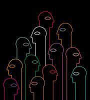 Silhouettes de néon