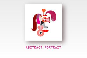 Abstract Vector Portrait