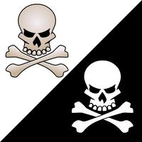 Skull and crossed bones vector graphic