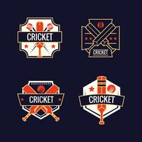 Set med Cricket Sports Logos
