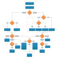 Säubern Sie Unternehmensflussdiagramm-vektorgraphik