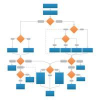 Clean Corporate Flowchart Vector Graphic
