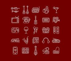 Line Art Vector Icon Set